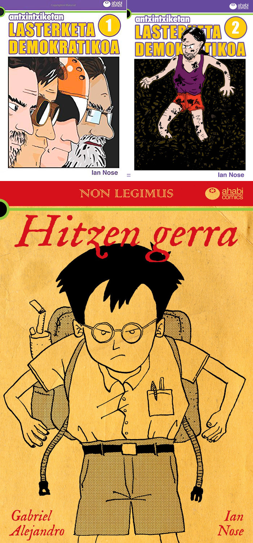 Ahabi Comics-ek hiru komiki atera ditu euskaraz