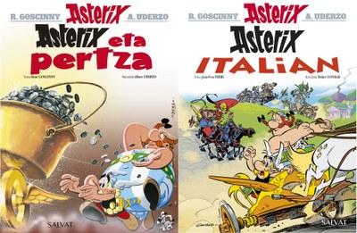 """Asterixen abenturen bi album berri: """"Asterix eta pertza"""" eta """"Asterix Italian"""""""