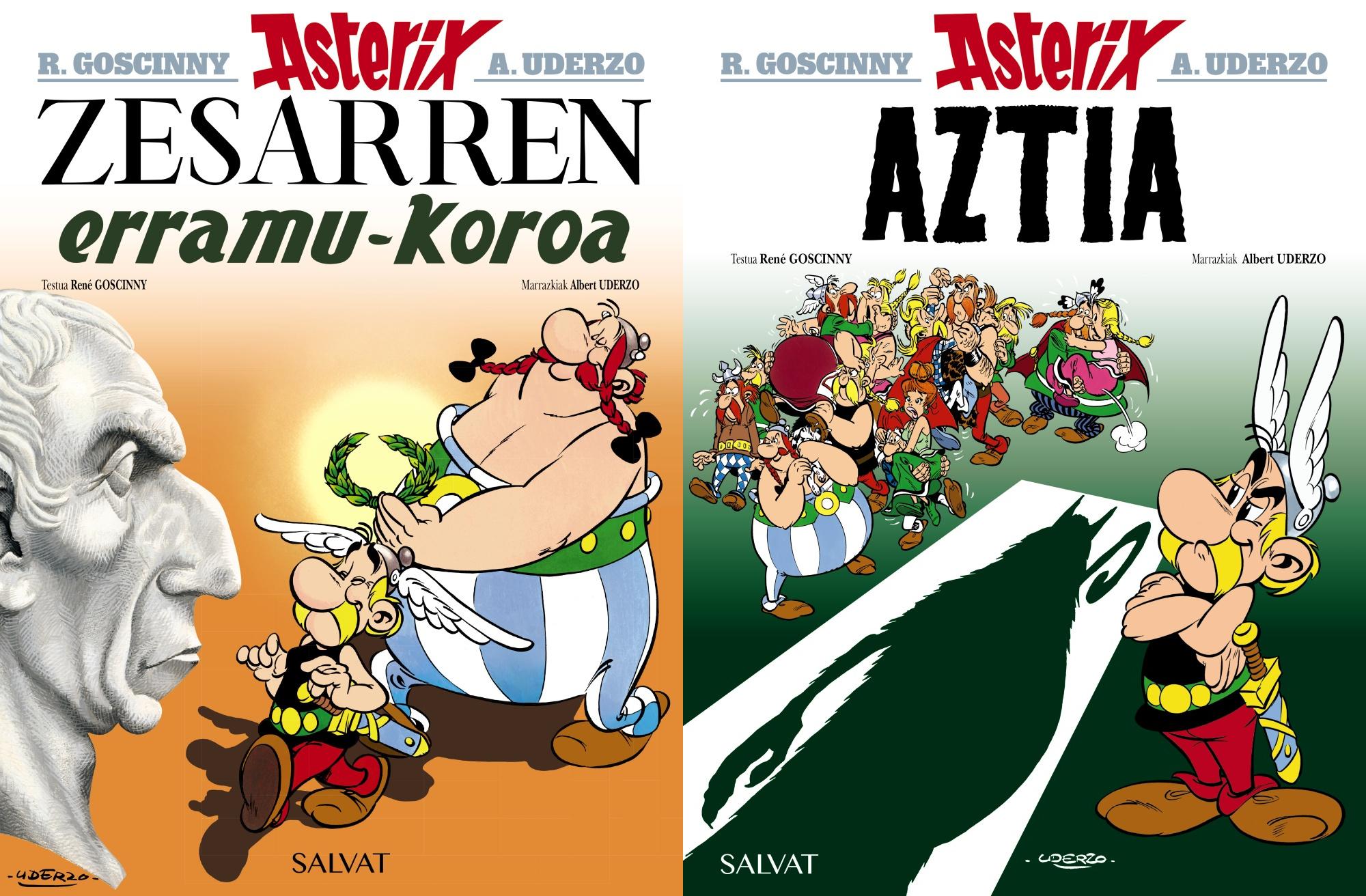 """""""Aztia"""" eta """"Zesarren erramu-koroa"""" berriz ere euskaraz"""