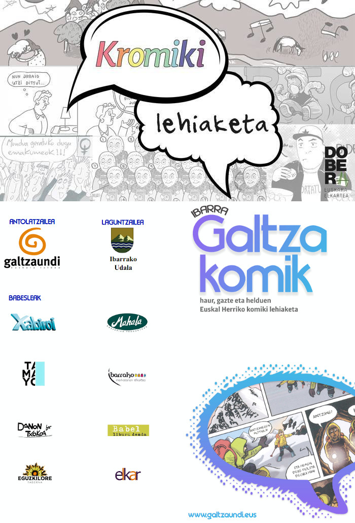 Euskarazko komiki-lehiaketak martxan: I. Kromiki lehiaketa eta XIII. Ibarra-Galtzakomik lehiaketa
