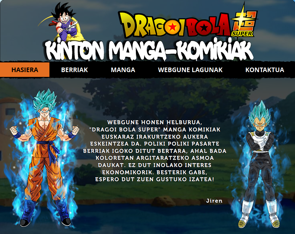 Kinton manga-komikiak webgunea