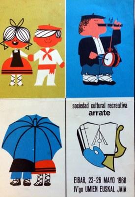 Eibarko Euskal Jaixa (1968) - kartela